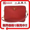 PRADA Prada SAFFIANO LUX (safianolyukes) used unused FUOCO shoulder bag (red) bt0656