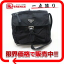 "Prada nylon slim shoulder bag black ""response."""