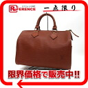 "Louis Vuitton EPI leather speedy 25 handbag Boston Kenyan Brown M43013 ""enabled."""