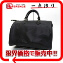 Used LOUIS VUITTON Louis Vuitton EPI leather speedy 30 handbag Boston Creel black M59022