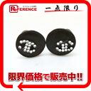 "Chanel 98A rhinestone CC earrings Brown ""response."""