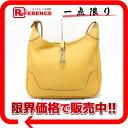 """HERMES Hermès """"trim 35"""" shoulder bag triyoncremans saffron silver metal fittings used"""