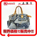 "Louis Vuitton Monogram Denim patchwork ""speedy"" Boston handbag blue M95380 ""enabled."""