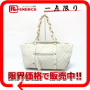 CHANEL Chanel calfskin matelasse bag chain that ivory silver metal fittings used