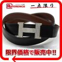 HERMES Hermes Grosch bracket minicomputer stance H reversible belt 80 box Cafe × kshber black x Brown silver bracket G ever-changing beauty products