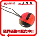 HERMES Hermes extra-fine & lacquer pendants necklaces natural * red systems used