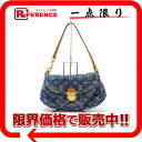 "Used LOUIS VUITTON Louis Vuitton Monogram Denim ""mini Preity"" shoulder bag blue M95050"