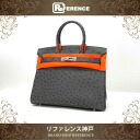 "Hermes handbags HERMES ostrich Birkin 30""graphite (estimated) silver bracket K time unused"