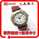 HERMES Hermes Captain Nemo ladies watch quartz SS×GP red leather belt X ever-changing pre-owned