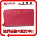 PRADA Prada SAFFIANO METAL (saffiano metal) leather zip around wallet 1 m 0506 PEONIA used