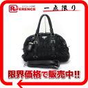 PRADA Prada nylon / leather gathered 2WAY shoulder bag black BL0397 used