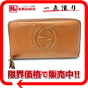 Owned by GUCCI Gucci SOHO (SOHO) leather zip around wallet Orange metallic 308280