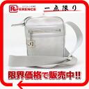CHANEL Chanel Newt label line pochet shoulder bag silver used