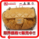 CHANEL Chanel lambskin matelasse chain around the chain shoulder bag Brown / silver metal A49889 used
