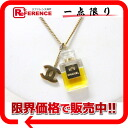 CHANEL Chanel 04A perfume motif pendant necklace gold used