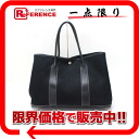 HERMES Hermes garden party PM tote bag toil Office Yale Black G ever-changing pre-owned