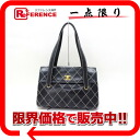 CHANEL Chanel calfskin wilds tech Tote black owned