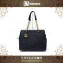 CHANEL Chanel shimmer processing leather Chevron V stitch chain that bag black vintage processing gold fittings used