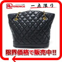 CHANEL Chanel lambskin quilted bag chain that black used