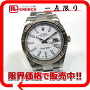 """Rolex Datejust II white-board men's watches SS×WG automatic winding like 116334 roulette random new """"support."""""""
