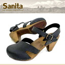 ●The warmth of the SanitaSN492 tree! Strap sabot sandals of the Wood sole