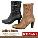법률 REGAL 하프길이 부츠[F25C]가죽 일본제 레이디스 하프길이 쇼트 부츠 MADE IN JAPAN ladies boots●
