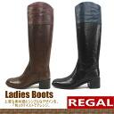 법률 REGAL 롱 부츠[F38C]가죽 일본제 레이디스 롱 기수 부츠 MADE IN JAPAN ladies boots ●