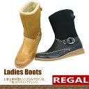 리걸 REGAL 숏 부츠 [F43C] 가죽 여성용 숏 부츠 스웨이드 + 가죽 구멍 있는 ladies boots ●