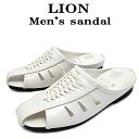 Sandals men's men's Sandals Office sandal made in Japan LION lion gentleman for men's White 1