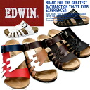 Men's Sandals EDWIN EW9163 footbed Sandals men's casual sandals-