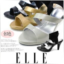 All three colors of boots sandals boo sun sandals Lady's ELLE PARIS EPC6008 ankle band mule sandals sandal ●