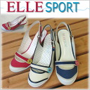 Airsports Sandals Women's wedge sole ELLE SPORT ESP10508 ラウンドトゥバックストラップレディース casual heel sandal wedge sole sale discount sandal wedge-