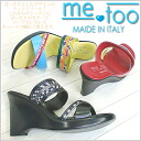 -In me too MT291 slender wedge sole back style fashionable on レディースミュール Sandals! [fs3gm]