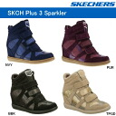 Skechers インヒール sneakers SKECHERS SKCH Plus 3-Raise Your Glass SKCH plus 3 rise your glass high cut women's shoes shoes ladies sneaker-_ _