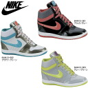 In heel sneakers with a built-in 644413 nike in heel sneakers Lady's higher frequency elimination NIKE FORCE SKY HIGH nike women force sky high shoes Lady's shoes sneakers 6.5cm heel●