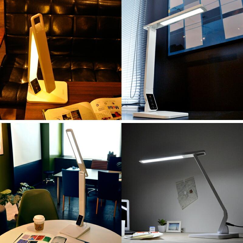 面光源 調光 調色 デスクライト led 高演色性 学習机 おしゃれ 電気スタンド LED 卓上 学習用 目に優しい 寝室 デスクスタンド スタンド 間接照明 USB ライト 照明 デスク