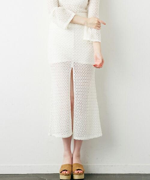 【Rosarymoon(ロザリームーン)】16RF-3302-レーシィロングスカート