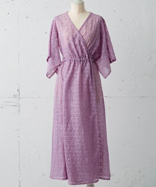 【Rosarymoon(ロザリームーン)】17RS-1114-レーシィ2WAYガウン