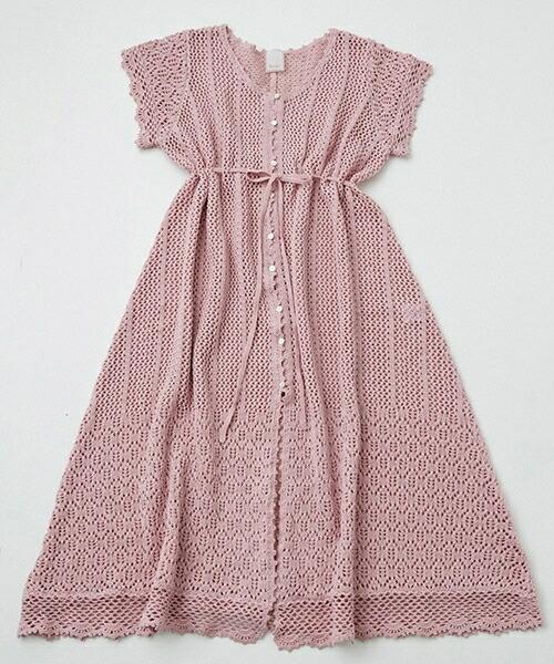 【Rosarymoon(ロザリームーン)】17RM-2108-クロッシェガウン