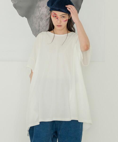 【STORAMA(ストラマ)】STRM-17L-キャンバスパネルワイドTシャツ