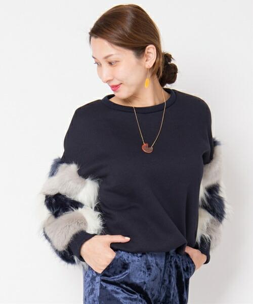 【Laymee レイミー】LY17WT-CS03-Welling fur cutsew-ウェリングファーカットソー