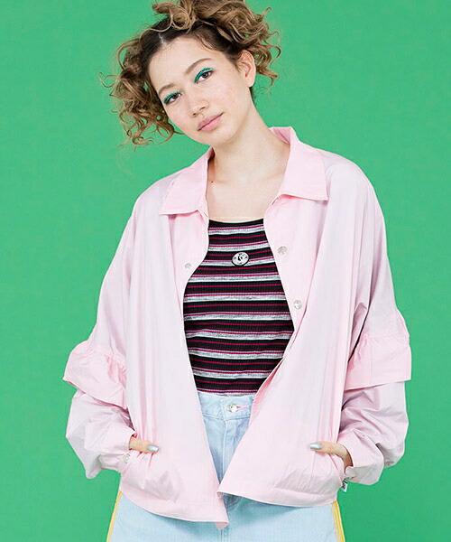 【Little sunny bite(リトルサニーバイト)】nylon raffle jacket ジャケット(LSB-LJK-145J)