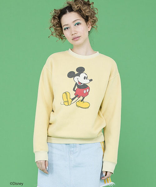 【Little sunny bite(リトルサニーバイト)】Disney★mickey mouse sweater スウェット(LSB-LTOP-153J)
