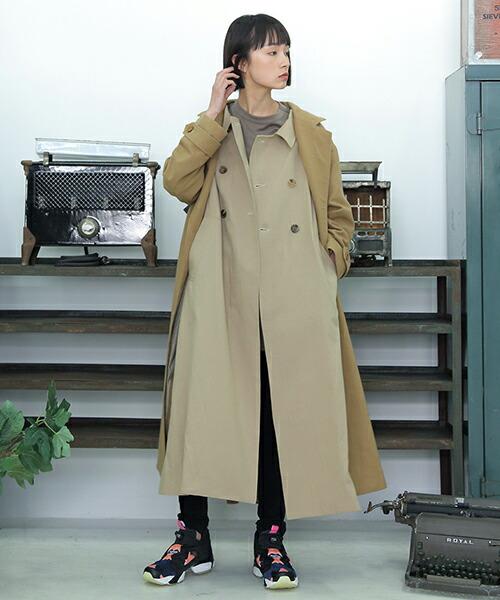 【STORAMA(ストラマ)】W LAYERD TRENCH COAT コート(STRM-18B)