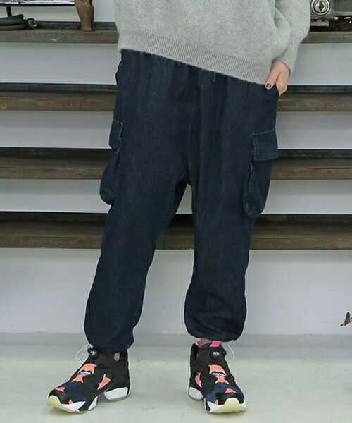 "【STORAMA(ストラマ)】EMBROIDERY ""TOBI JEANS  パンツ(STRM-18J)"