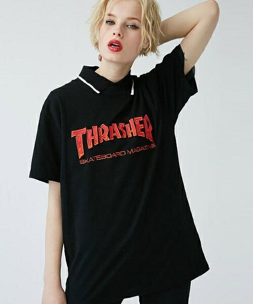 【jouetie(ジュエティ)】THRASHER BBQ TEE Tシャツ(081812703401)