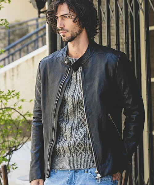 【felkod(フィルコッド)】Lamb Leather Single Riders Jacket ライダーズジャケット(F18W210)