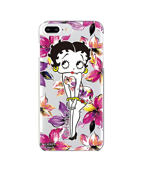 【Gizmobies(ギズモビーズ)】LIP SERVICE リップサービス iPhone6・7・8Plus・6sPlus背面ケース VIVIDFLOWER PK×BETTY(OD-0288-IP7P)