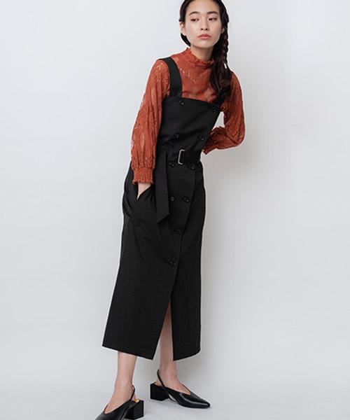 【OSMOSIS(オズモーシス)】ラップジャンパースカート(786006-247O)
