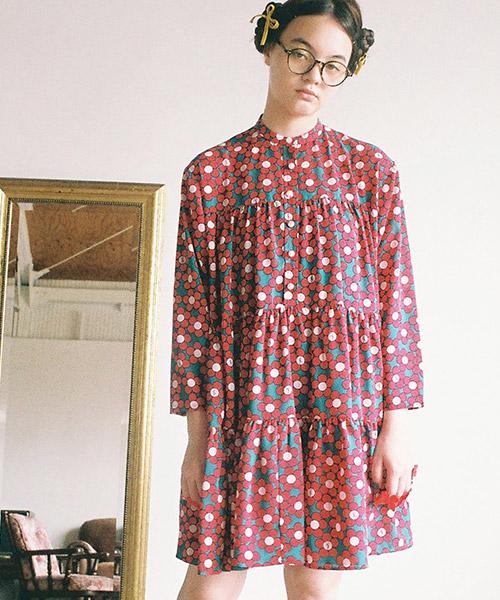 【Little sunny bite(リトルサニーバイト)】FLORAL DRESS ワンピース(LSB-LOP-191 POPJ)